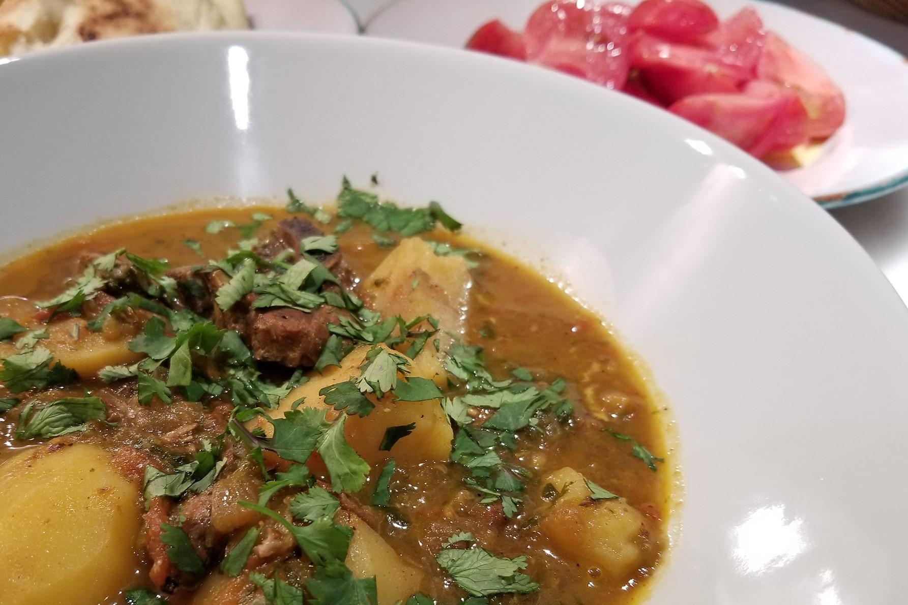 My version of marak temani, a traditional Yemeni dish.