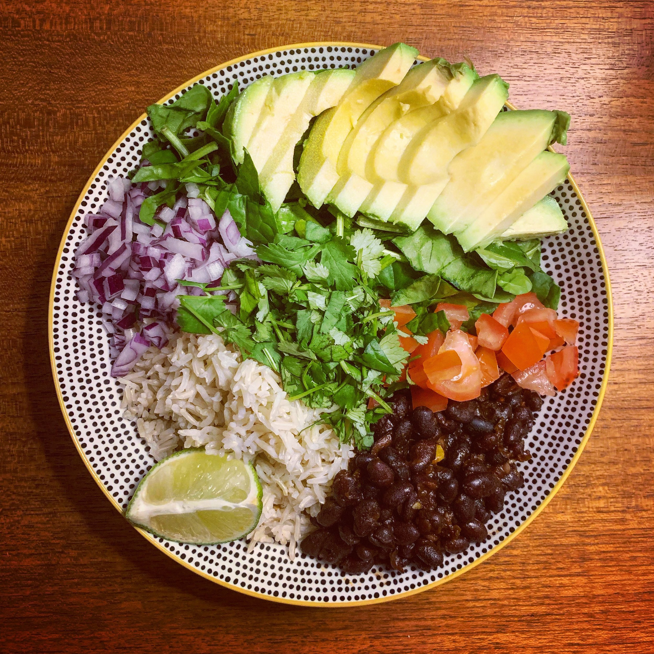Burrito Bowl with Chipotle Black Beans