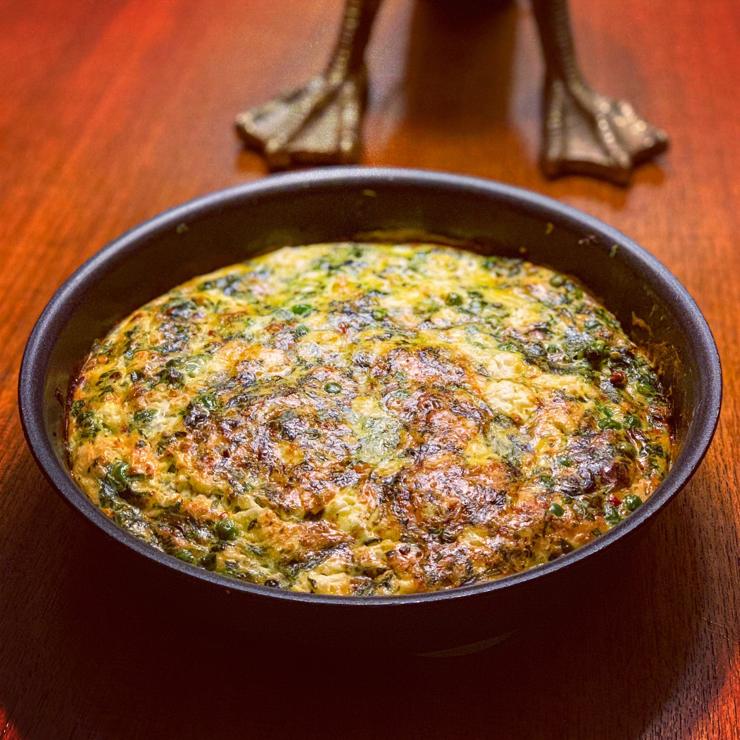 Baked Spinach and Pea Frittata