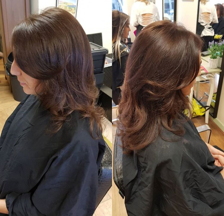 Beautiful chocolate brunette, check out that shine!