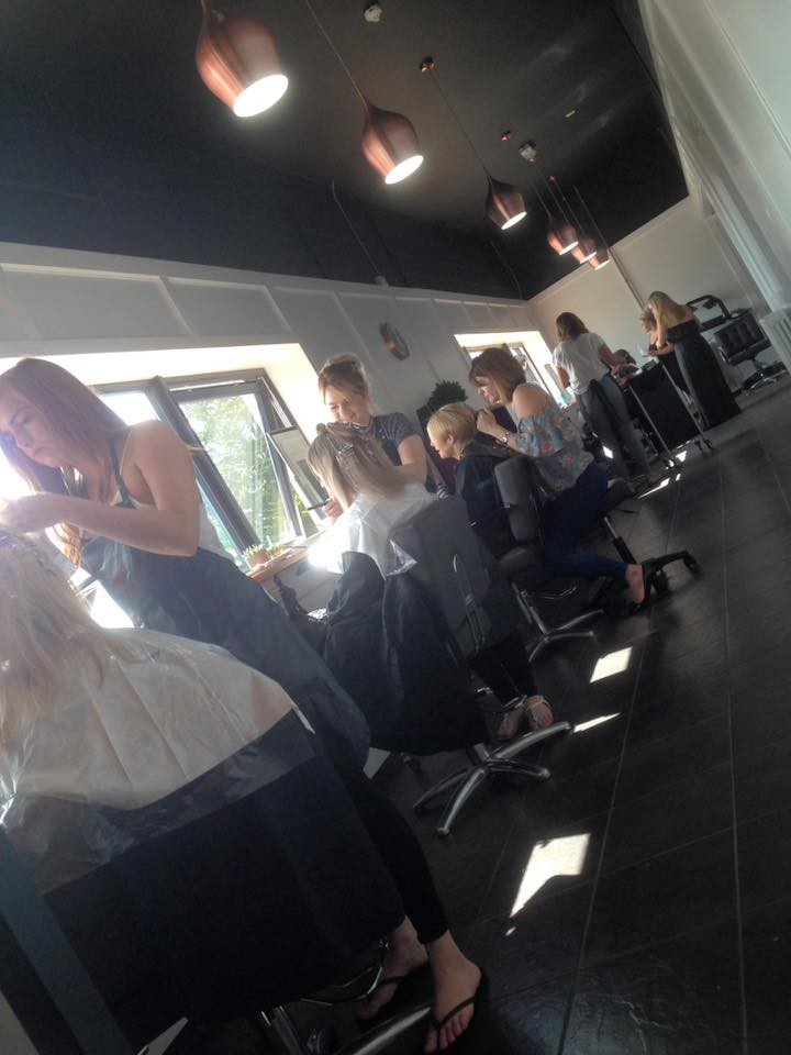 busy salon with the best hairdressers in cornwall