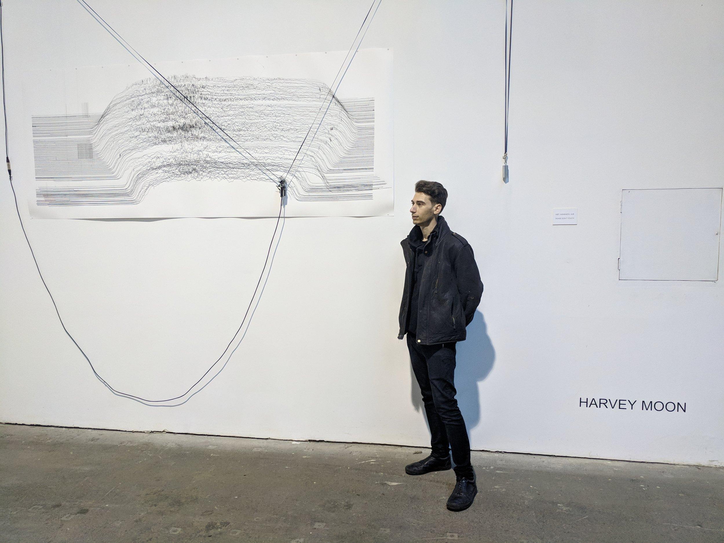 Harvey Moon , AI Robotic Drawing Machine