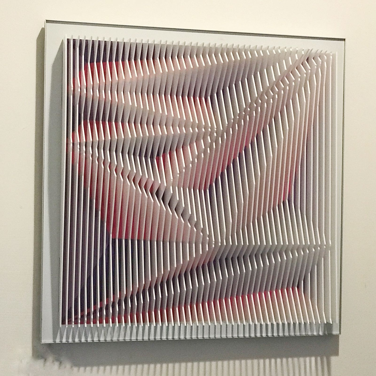 J. Margulis, The Leap PV, Lucite sheets mounted on UV aluminum print, 24 x 24, Courtesy Contempop