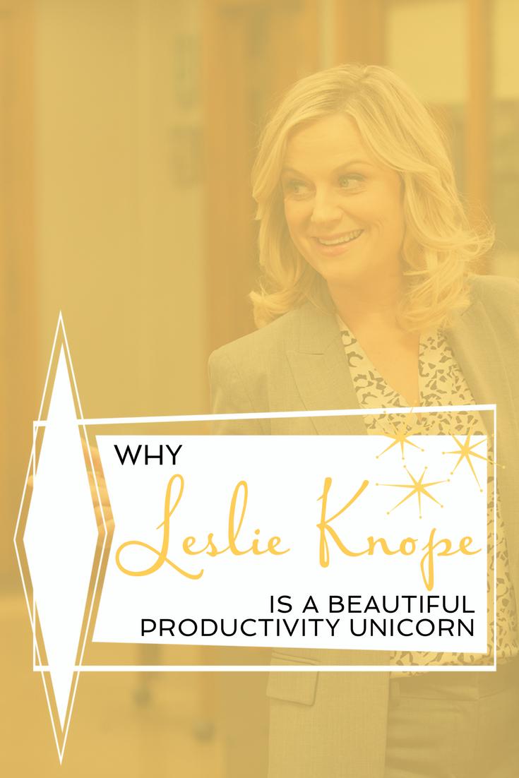 Kate Rufener Productivity Coach Leslie Knope