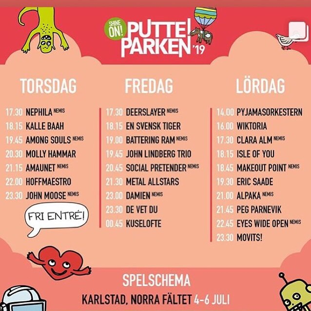 8 days!! Hope too see you guys in the crowd @putteiparken ⭐️ ⭐️ ⭐️ ⭐️ ⭐️ #festival #summer #summerfestival #rock #rockband #rockbands #guitar #drums #bass #karlstad #tv4 #svt #music #newmusic #live #livemusic #love #like #band #independentartist #bandontherun #pop #insta #instamusic