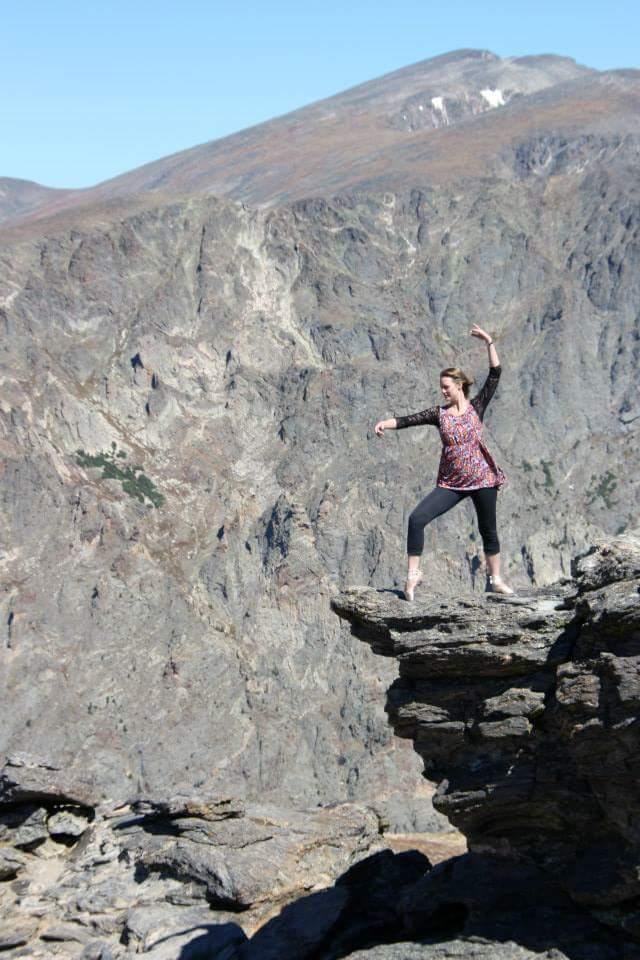 Lisa on Trail Ridge Road, Rocky Mountain National Park, CO