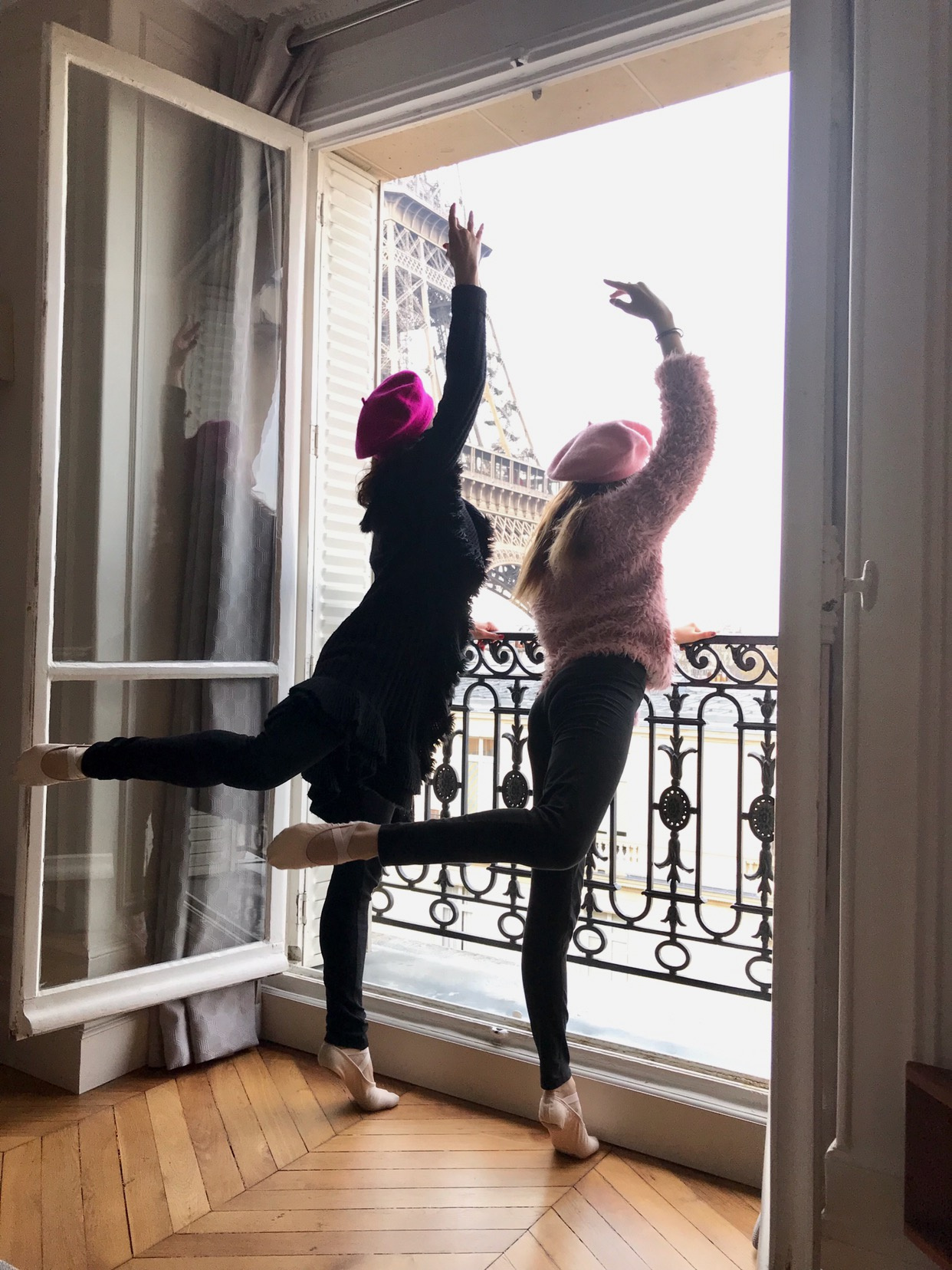 Pam and Harriet in Paris, France