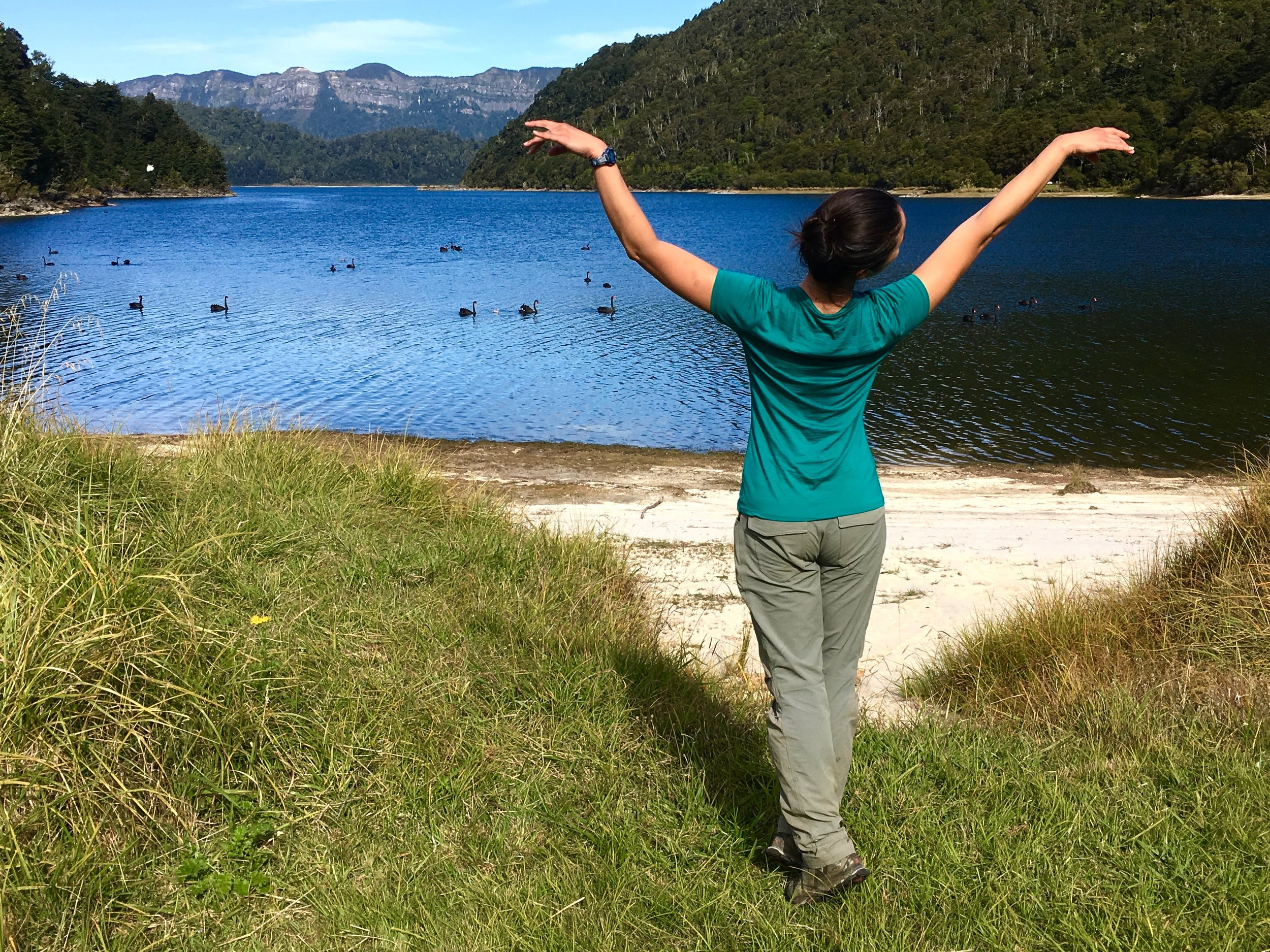 Mary at Waikaremoana Lake, New Zealand