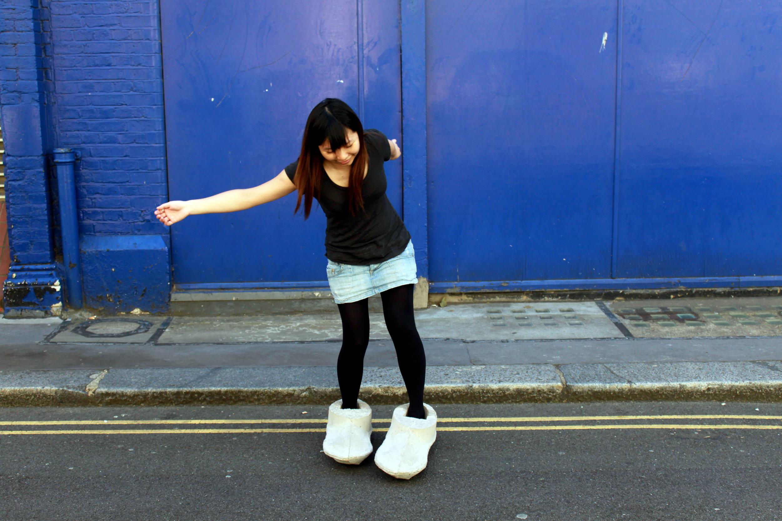 Walking in concrte shoes.JPG