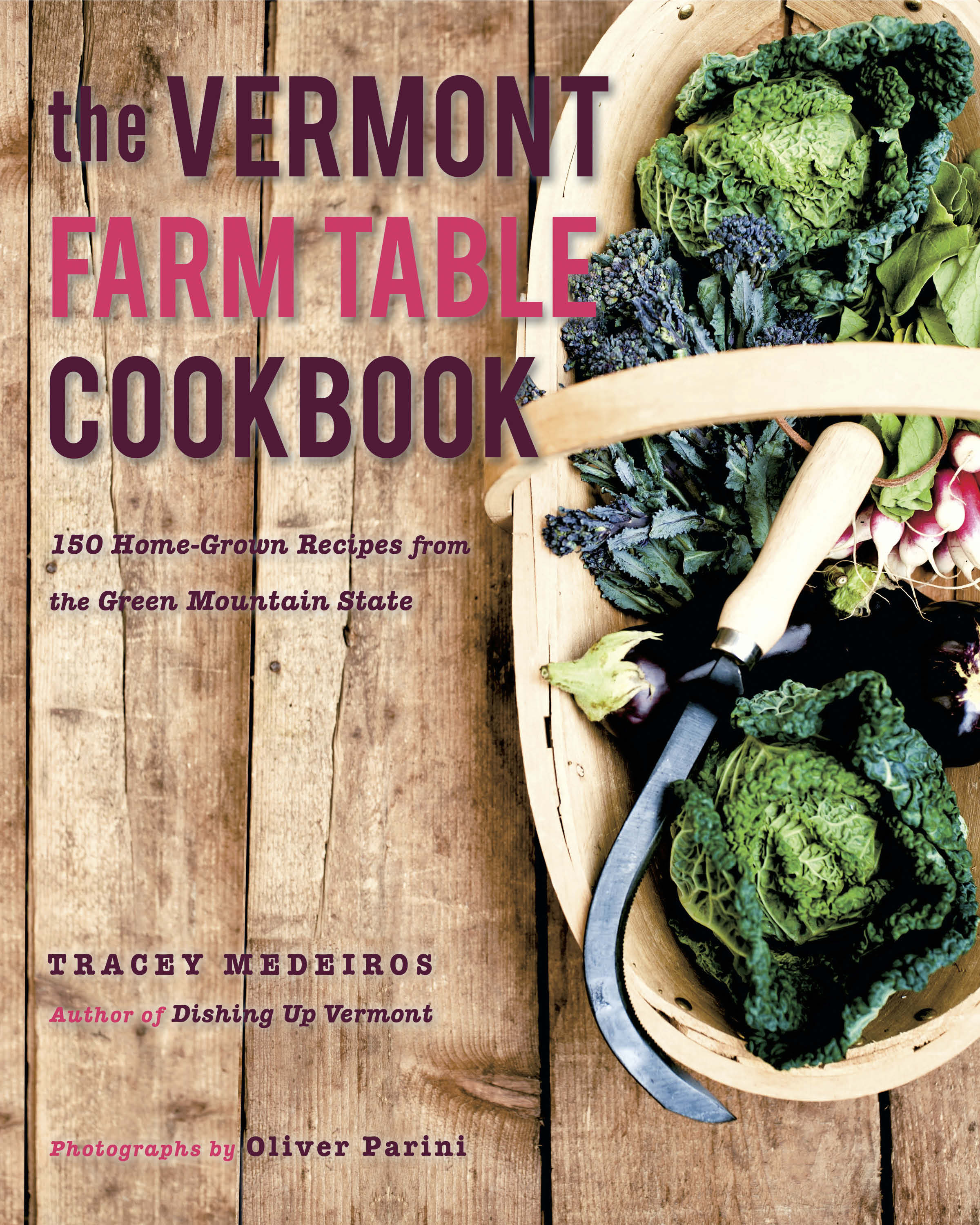 """The Vermont Farm Table Cookbook    Small, independent farms are the lifeblood of Vermont's agriculture, from the sweetcorn grower to the dairy goat farmer to the cheese maker whose locally sourced goat milk chevre becomes the heart of a new dish by a chef in Montpelier. While this farm-to-table cycle may be a phenomenon just hitting its stride in the United States, it has long been away of life in Vermont, part of the ethos that Vermonters use to define themselves. As such, Vermont exemplifies a standard of small-scale, community-minded, unadulterated agriculture that has become a national model.  When Tracey Medeiros wrote Dishing Up Vermont in 2008, she wanted to showcase the chefs and restaurateurs who were dazzling taste buds with their fresh, whole-food creations. With The Vermont Farm Table Cookbook, Medeiros has traversed the Green Mountain State once again, in search of not only those celebrated chefs but the hard-working farmers who provide them with their fresh and wholesome ingredients as well. Collecting their stories and some 125 of their delicious, rustic-yet-refined, Vermont inspired recipes, Medeiros presents an irresistible gastronomic portrait of this singular state.  Classics like Vermont Cheddar Soup and exciting innovations like Ramp Dumplings or Raisin Hell Pie will send you racing to your local farmers' market in search of the ingredients. And with dishes that shout """"only in Vermont,""""like Wood-Fired Blueberry Pizza or Beer-Battered Fiddleheads, no matter where you are you'll want to transform your tried-and-true menus into fresh and flavorful Vermont farm table suppers.   The Countryman Press, A division of W.W. Norton & Co., Inc.   500 Fifth Avenue New York, NY 10110   Tel: (212) 790-9410  Fax: (802) 457-1678    Link to Amazon.com"""