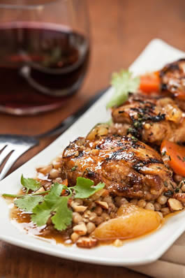 Moroccan-style Chicken with Apricots and Almonds