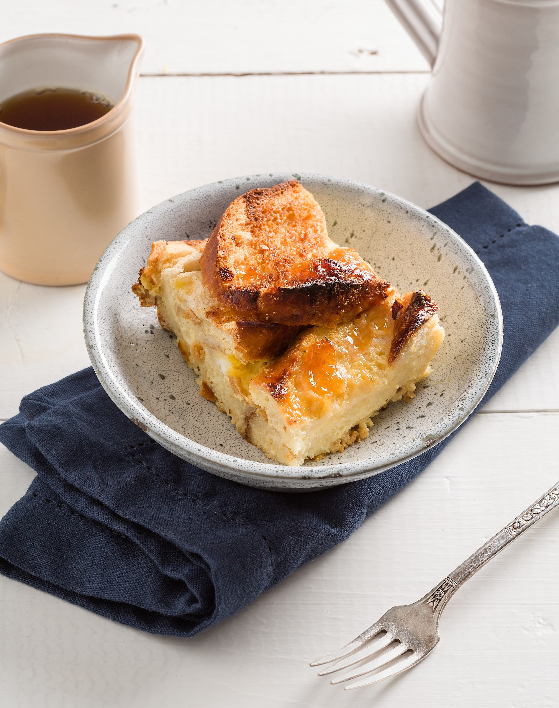 French Toast Casserole with Ben and Jerry's Vanilla Ice Cream