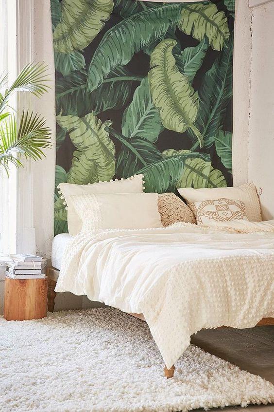 tropical bedroom patterend wall.jpg