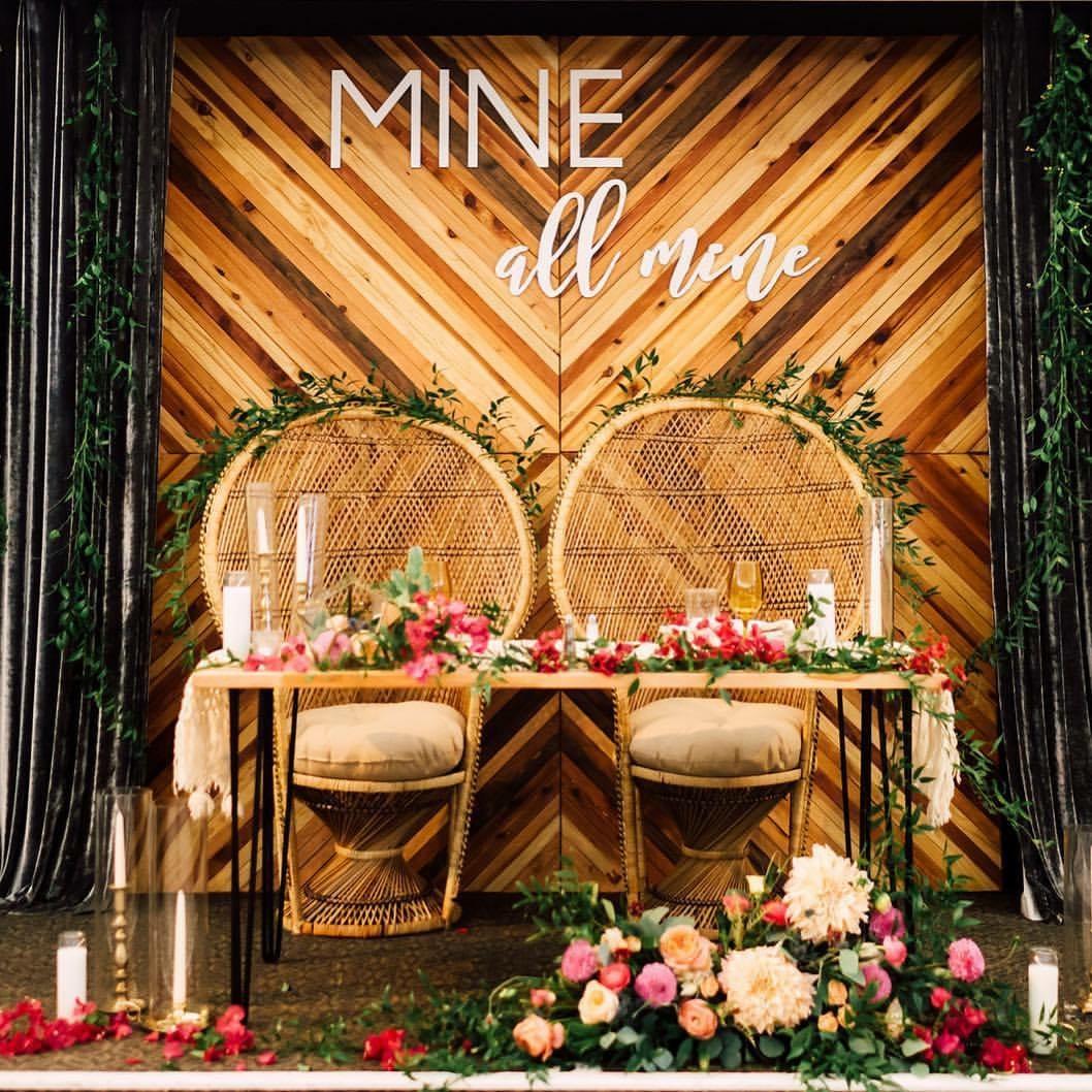 Seeking Solace Backdrop Wedding Signage