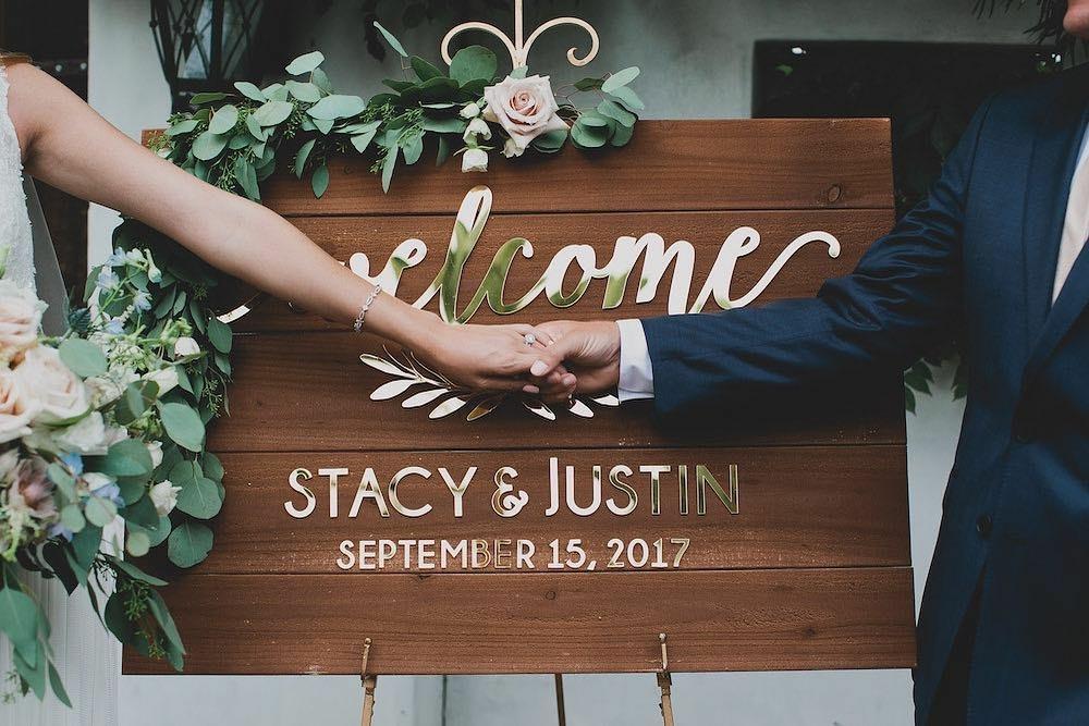 Seeking Solace Blog Welcome Wedding Sign