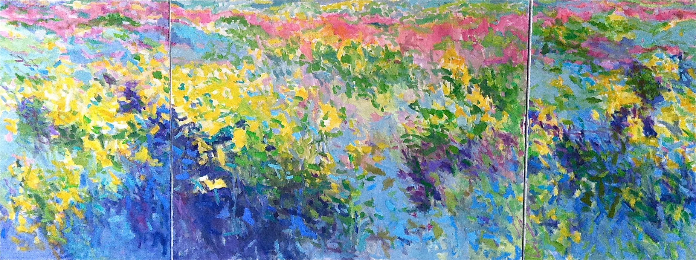 John's Meadow, triptych SOLD Commissioned for Shady Grove Cancer Center, Maryland