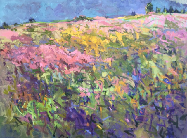 Pink Hill, Blue Mountain 30x40