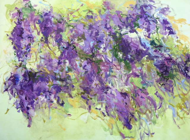 Dreaming of Monet, Wisteria (Glycines) 30x40