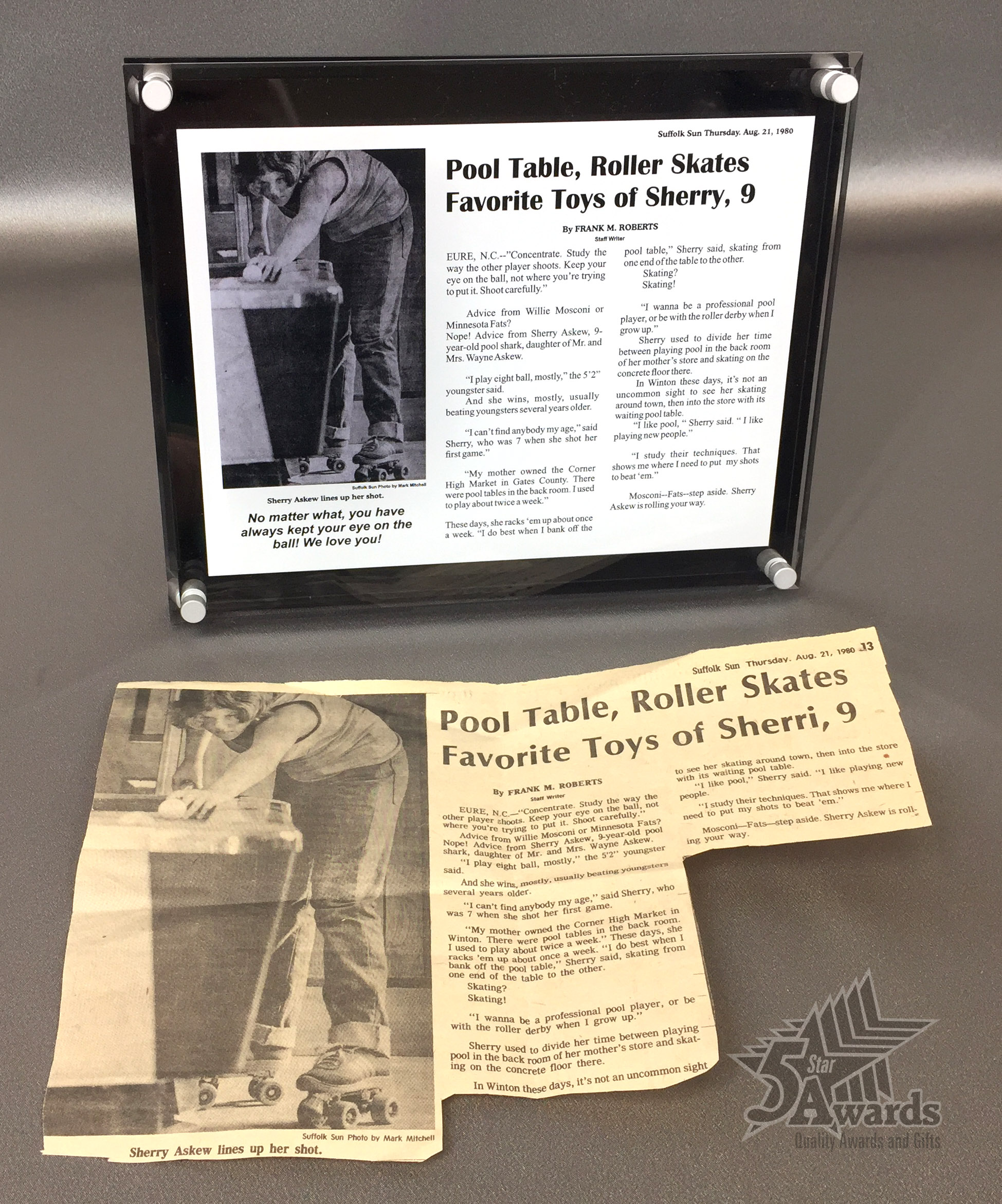 News Article Recreation Plaque