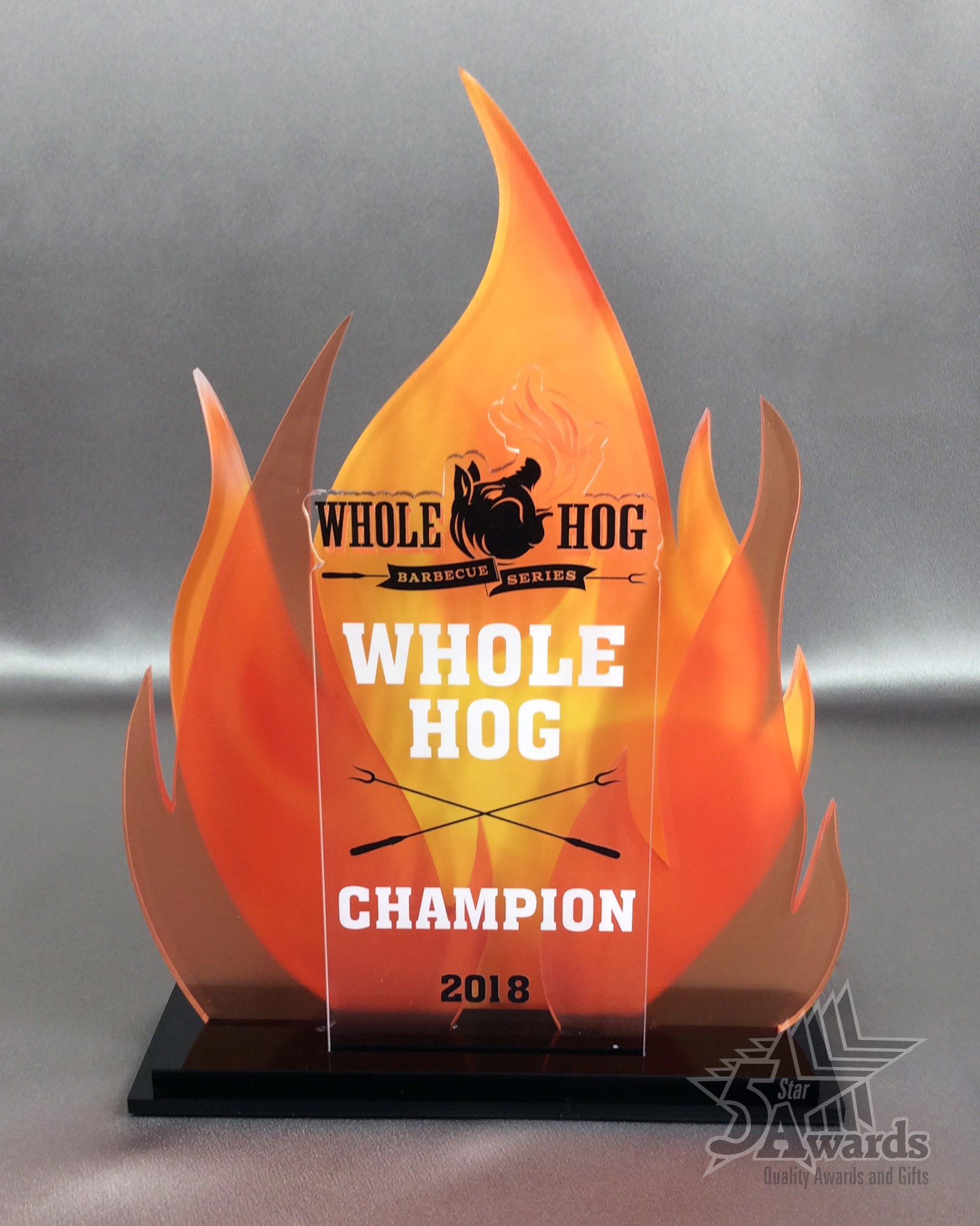 Whole Hog BBQ Competition Acrylic Award