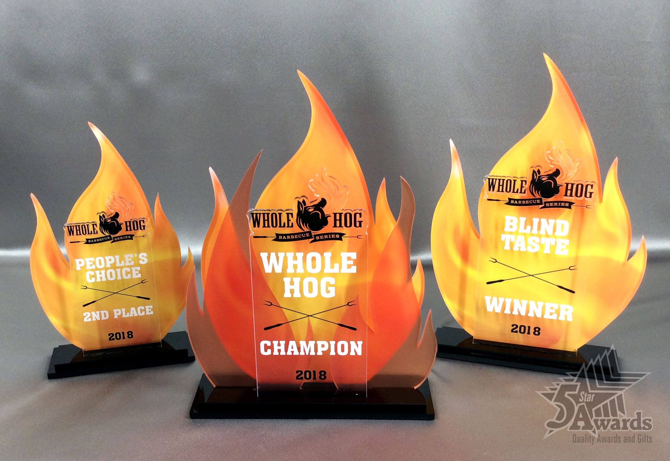 Whole Hog BBQ Competition Acrylic Awards