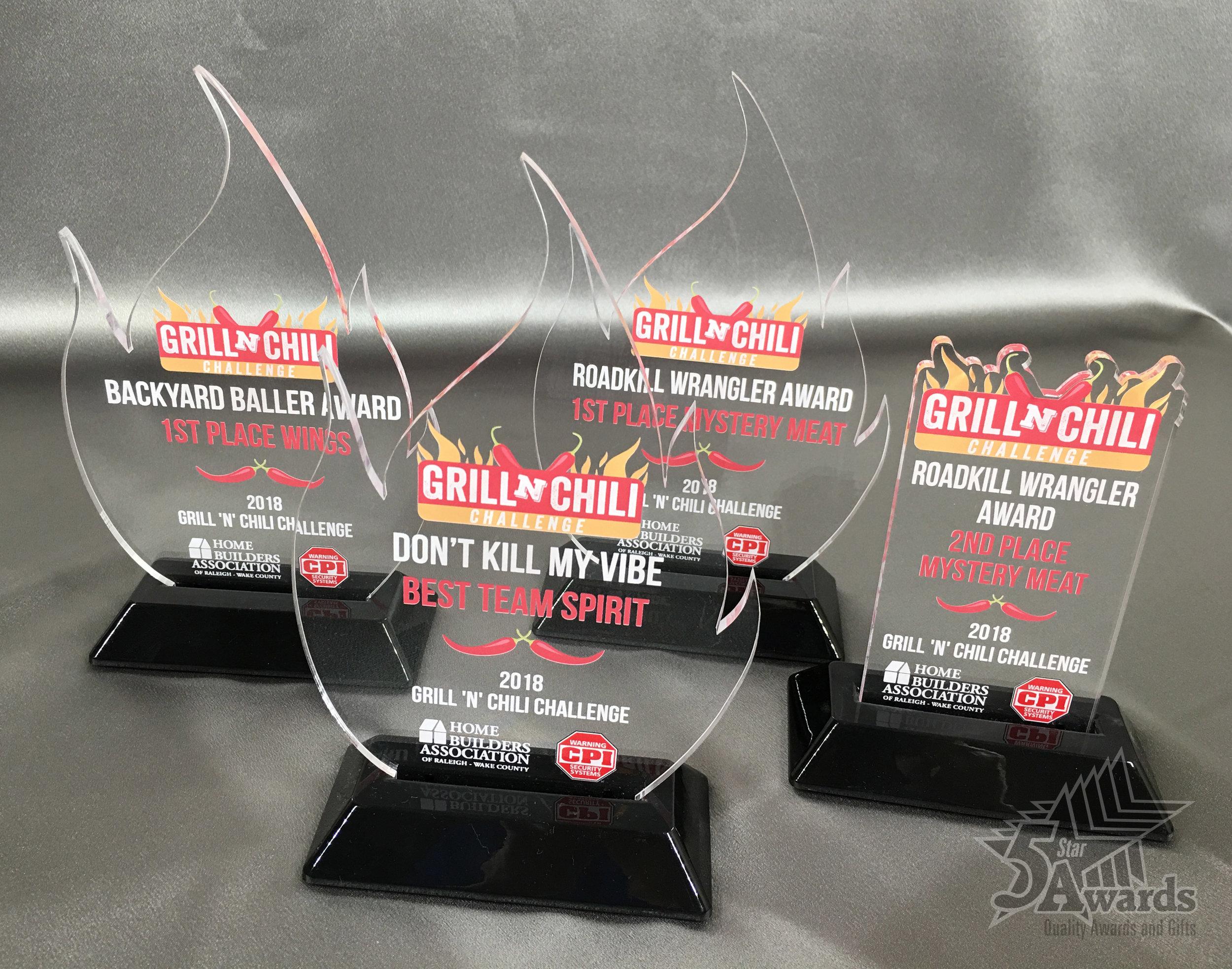 HBA Grilln' Chili Acrylic Awards