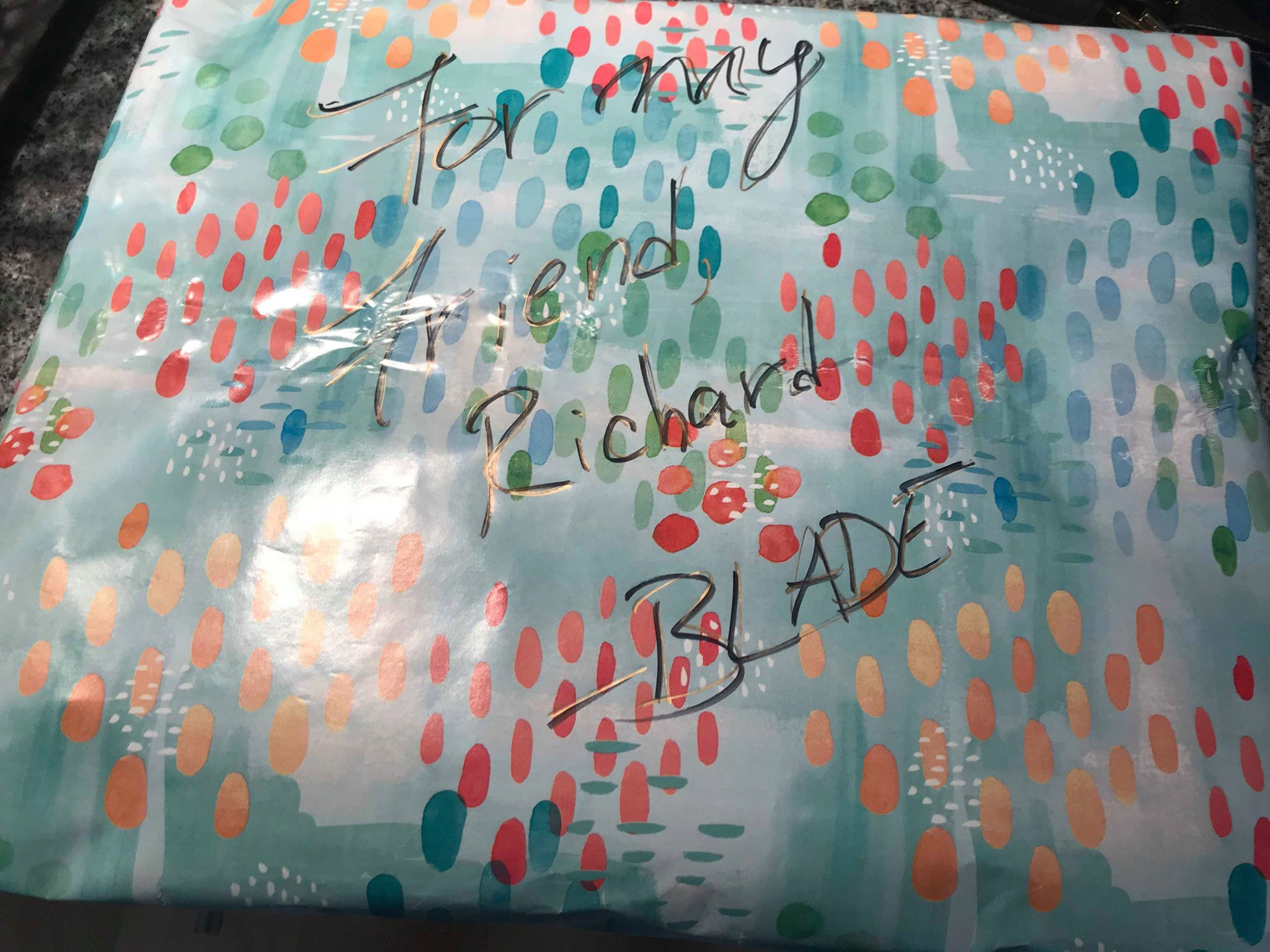 A surprise gift -Richard Seidlitz