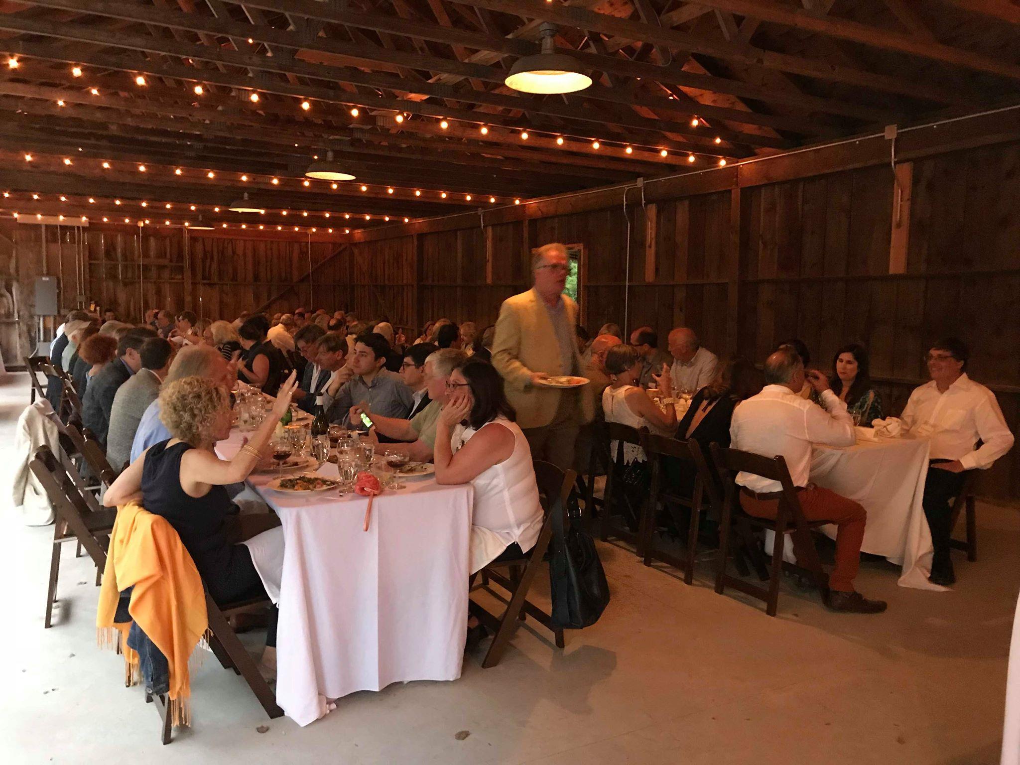 Dinner in the pole barn -Richard Seidlitz