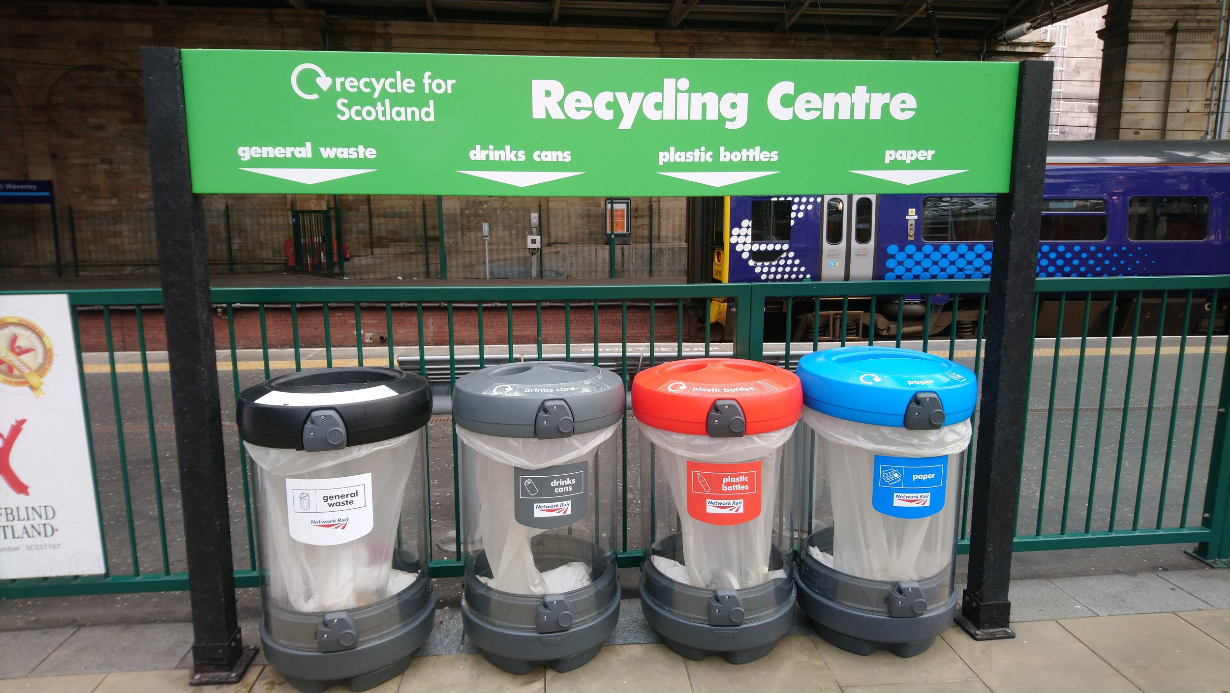 Scotland collects recyclables in several containers to keep each commodity as valuable as possible.