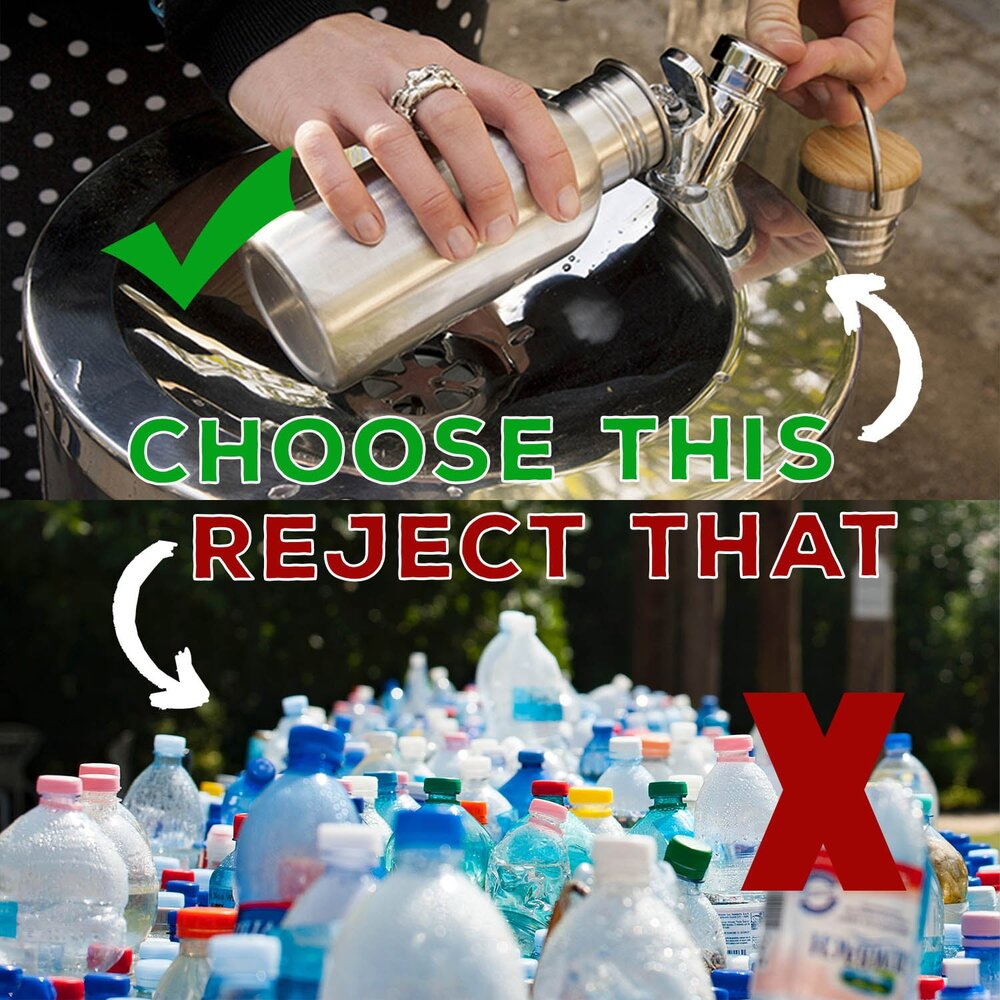 **Disclaimer: While we advocate strongly for reducing waste, if you do not have access to fresh water, bottled water may be your only option and we understand the necessity.