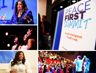 Peace First Summit-2018 - Held at Florence Gould Hall in NYC and in partnership with the youth-based group, Peace First, the summit celebrated the courage and innovation of young peace-builders and artists. Presenters featured leaders from the Obama and Gandhi families as well as from March for our Lives, the National School Walkout, buildON, and Do Something.