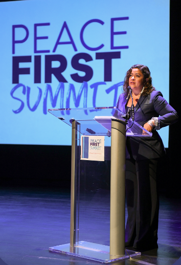 Maya Soetoro-Ng speaks at the 2018 Peace First Summit