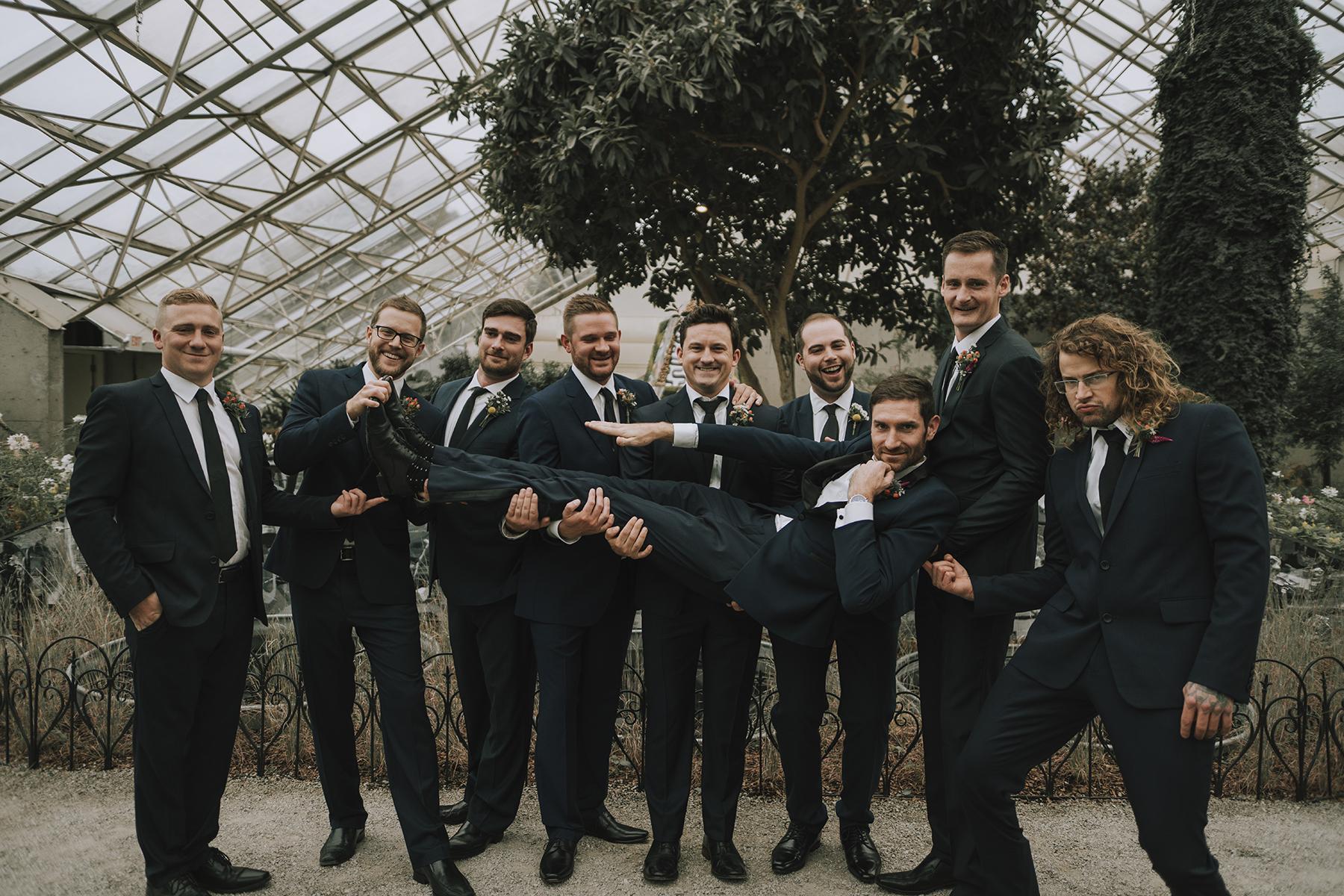 Foellinger-Freimann Botanical Conservatory indianapolis indiana hannah bergman Photography groom groomsmen