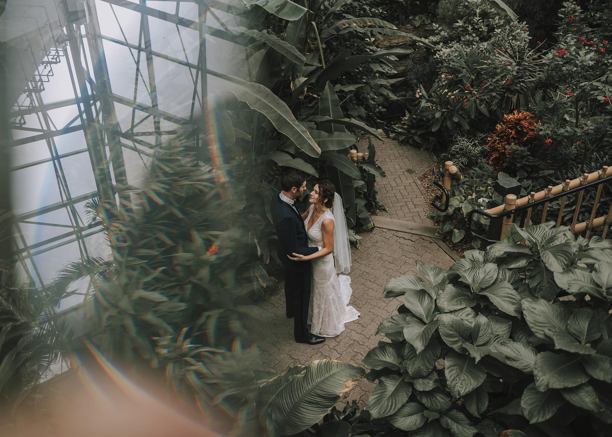 Foellinger-Freimann Botanical Conservatory indianapolis indiana hannah bergman Photography prism bridal portraits