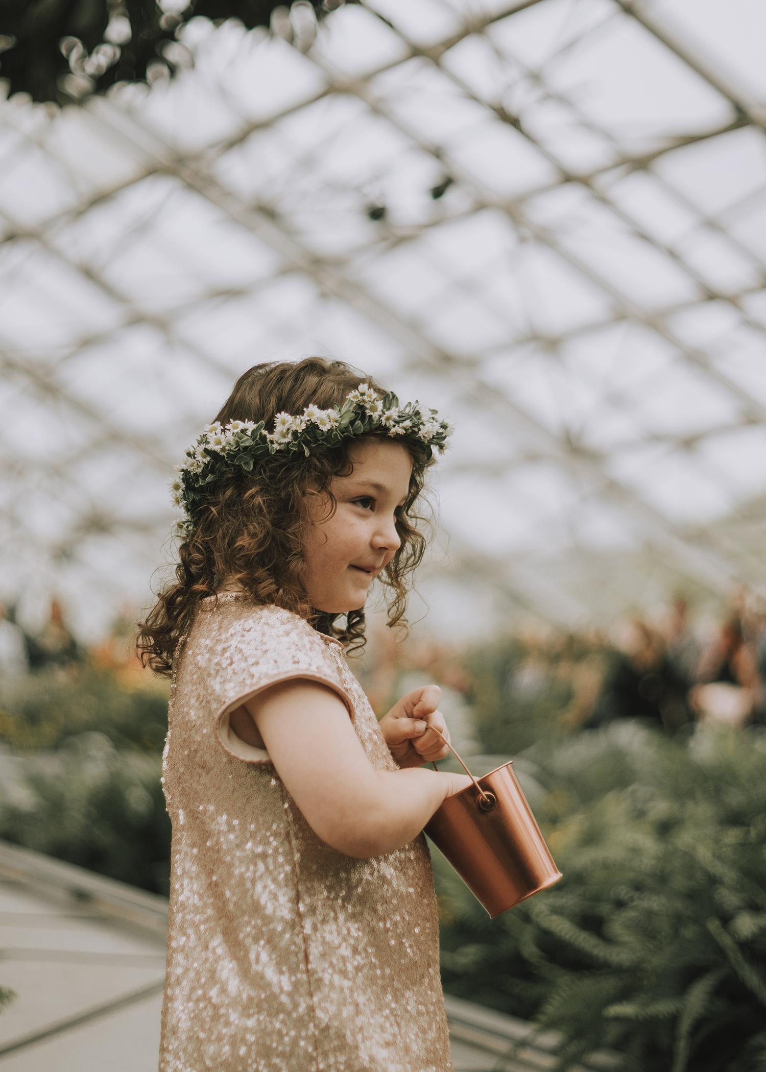 Foellinger-Freimann Botanical Conservatory indianapolis indiana hannah bergman Photography flower girl flower crown