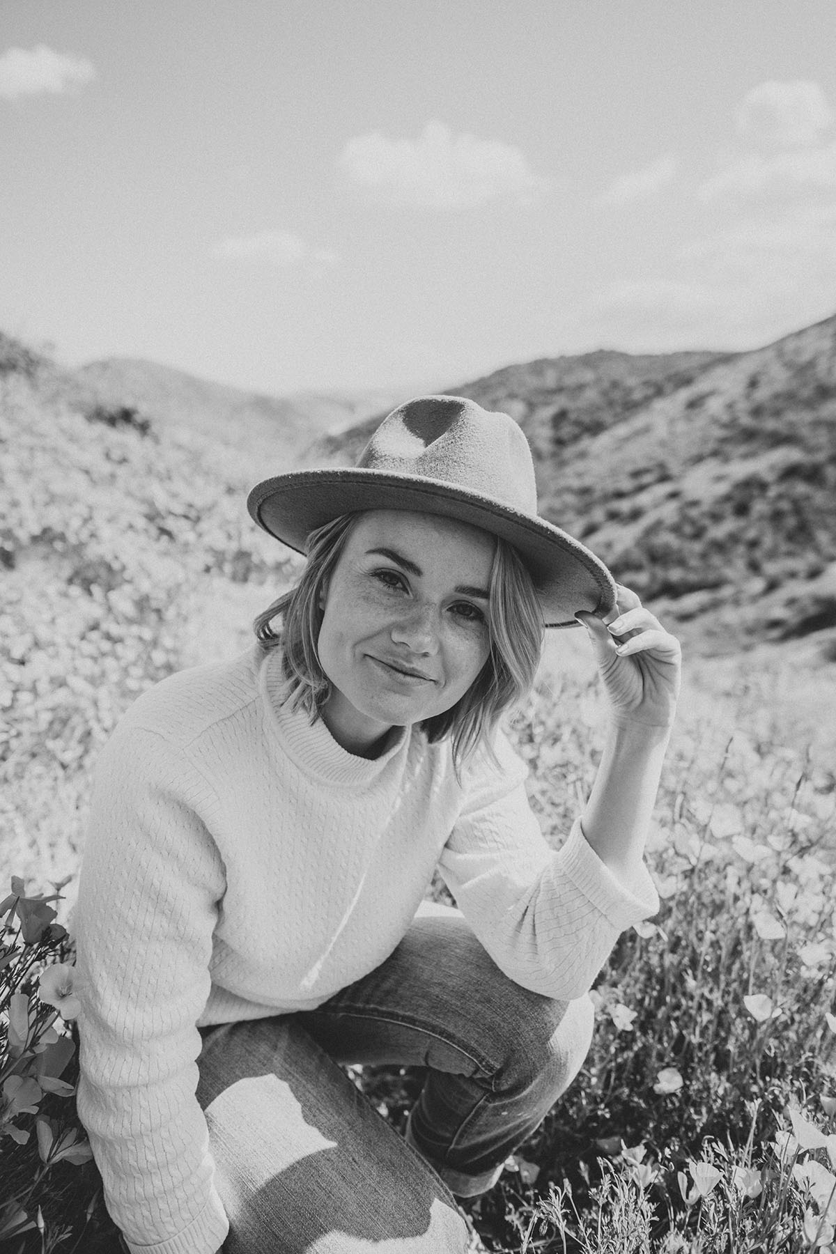 Walker Canyon California Poppy fields Adventure portraits