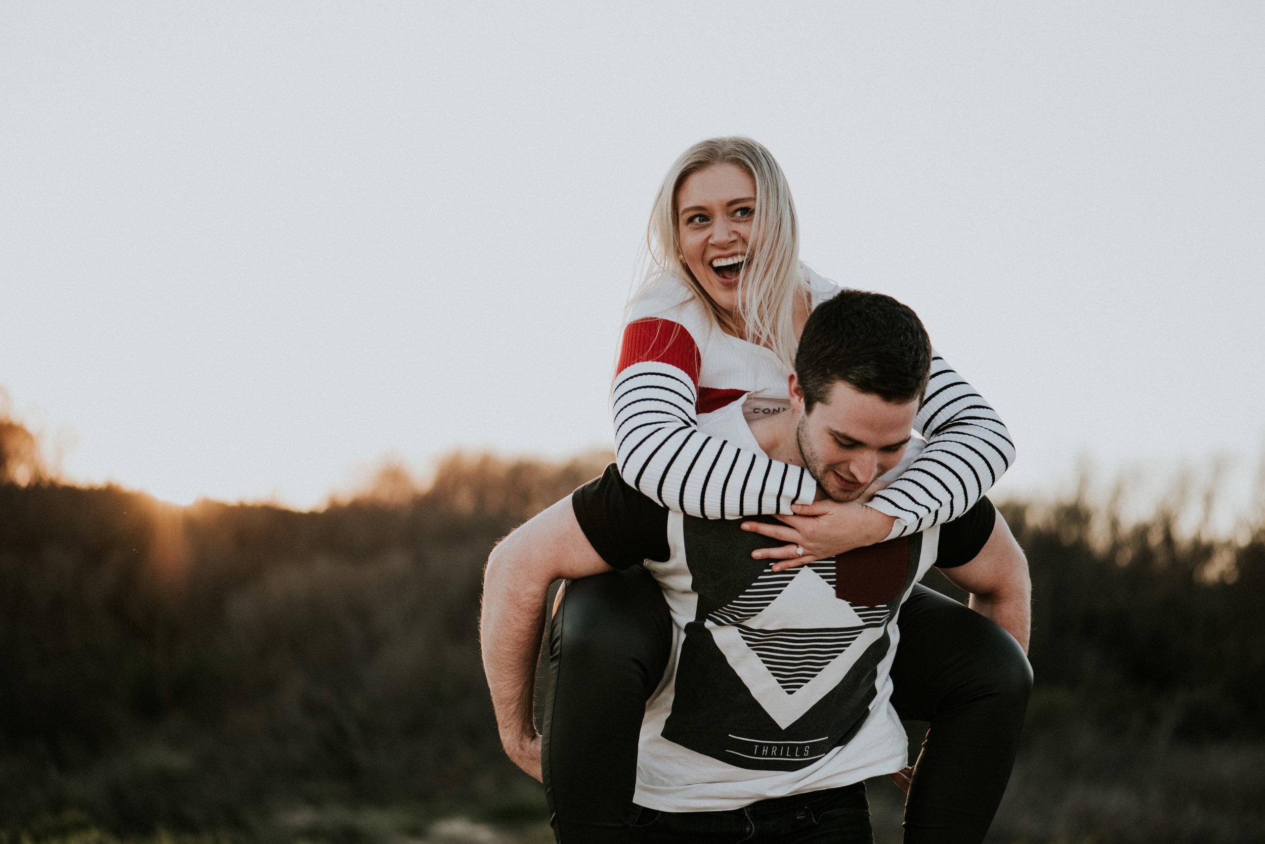 Amy & Jono - Port Kembla Winter Sunset Engagement     15th July 2018