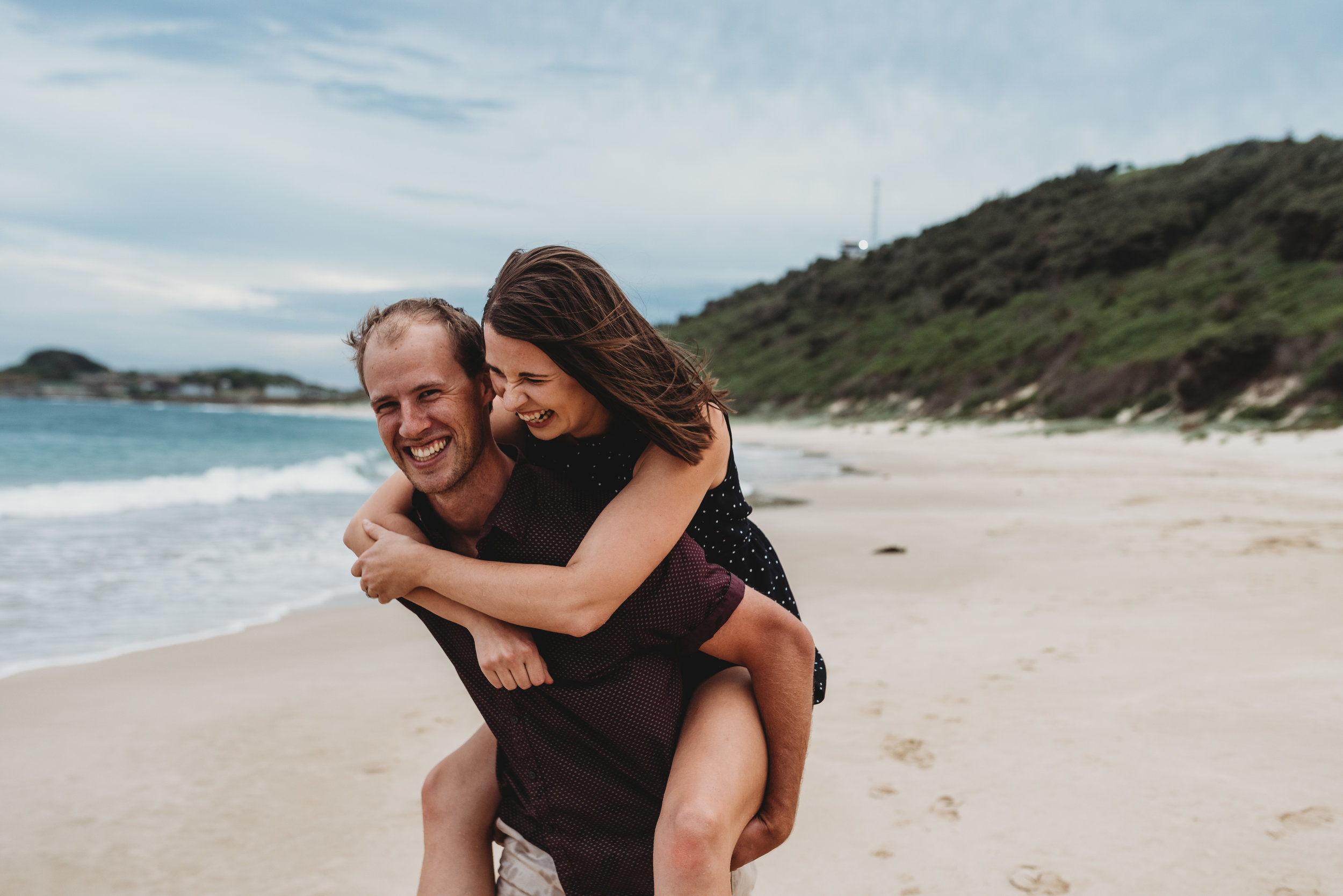 Christine & Jeff - Wollongong Beach Engagement     29th March 2019