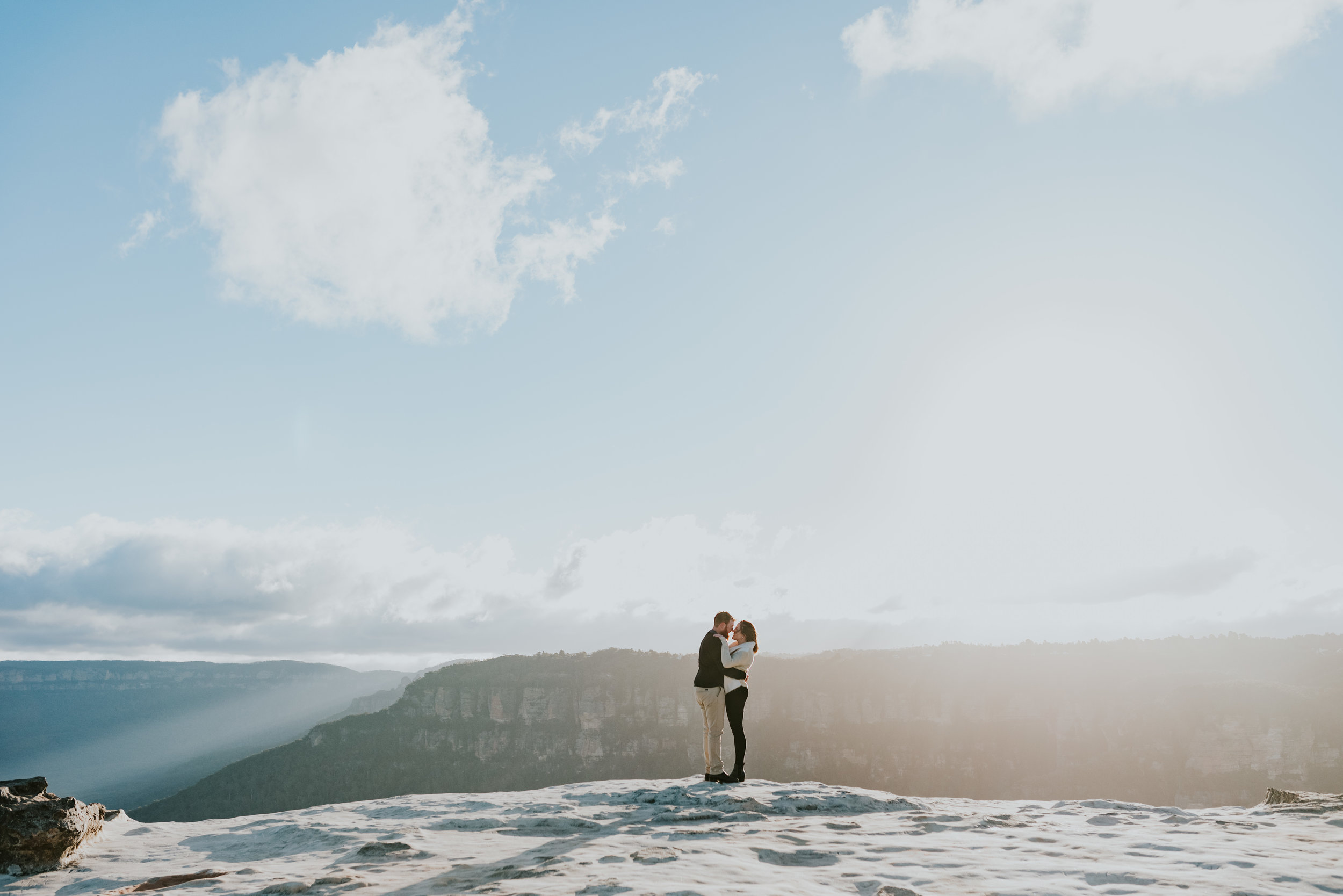 Sophie & Doug - Lincoln's Rock, Blue Mountains Engagement    14th July 2019