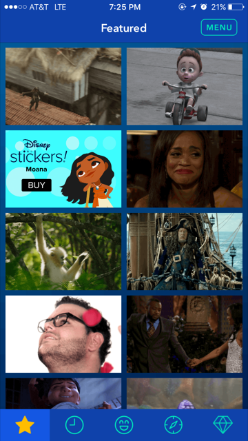 I produced and published content for Disney GIF