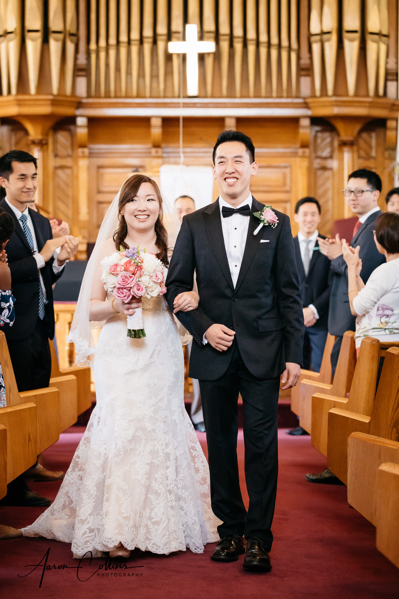 Bride and groom  recessional, just married!