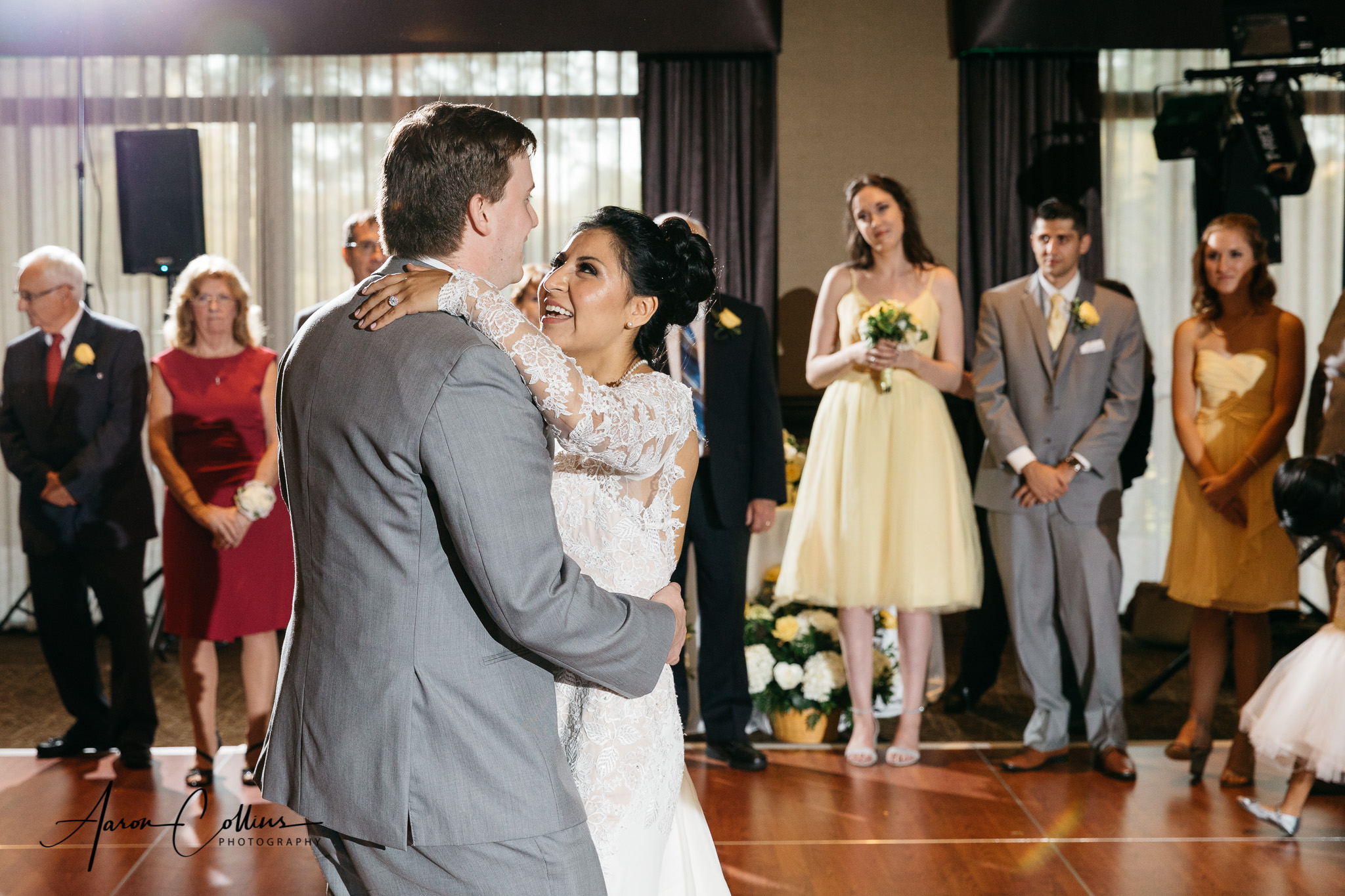 Bride and Groom's first dance at their reception at Verve in Natick MA.