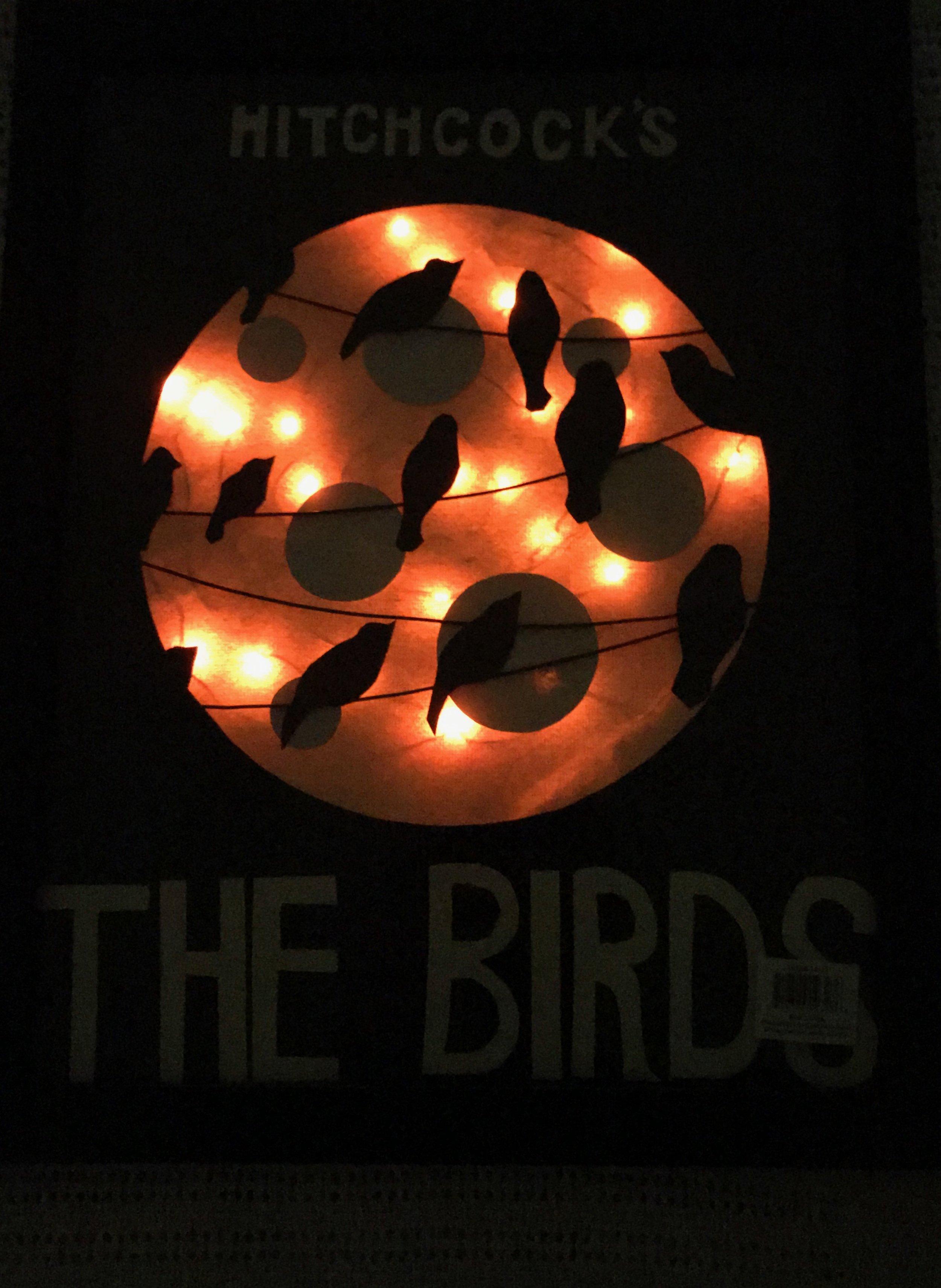 The Birds Poster Lit