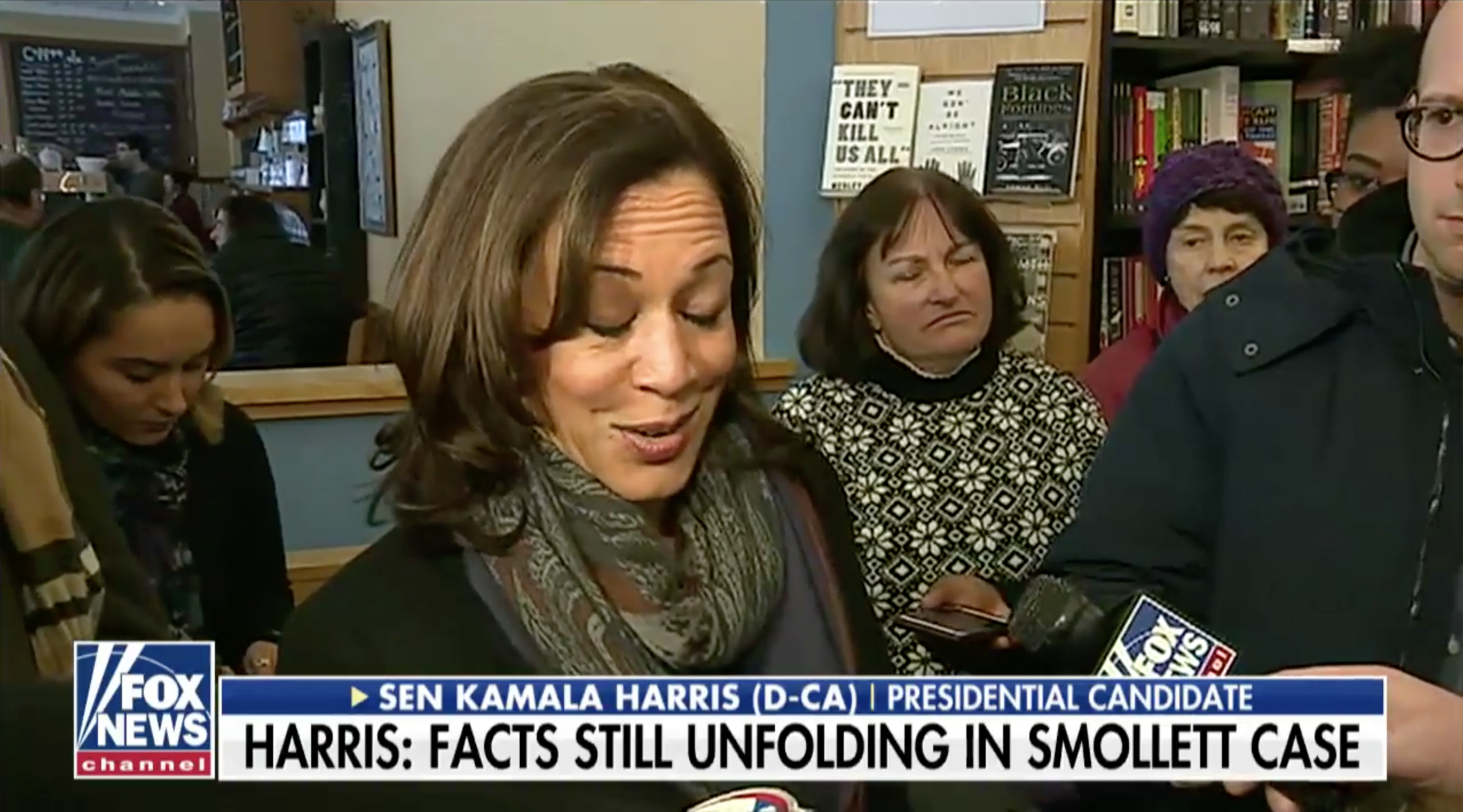 ( Fox News ) Kamala Harris gave awkward response Monday when asked about Jussie Smollett claims