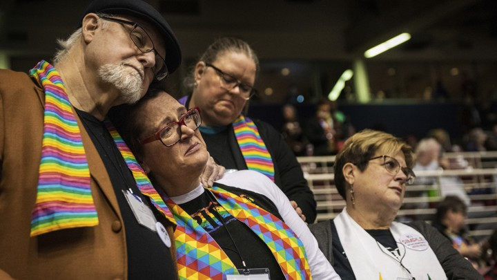 ( The Atlantic ) Delegates at the United Methodist Church General Conference react to the defeat of a proposal that would have allowed pastors to perform same-sex weddings and LGBTQ people to serve in ministry in some areas.SID HASTINGS / AP