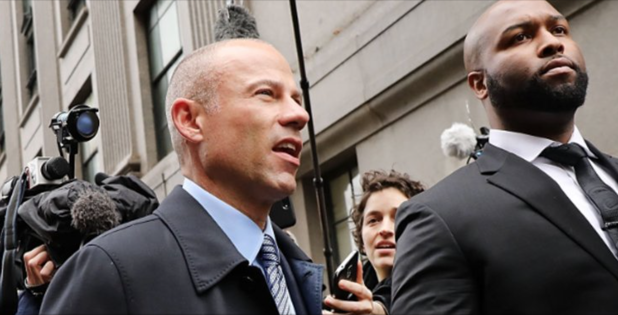 ( Twitter ) Pic of camera-loving liberal anti-Trump lawyer Michael Avenatti, who was arrested on suspicion of extortion.