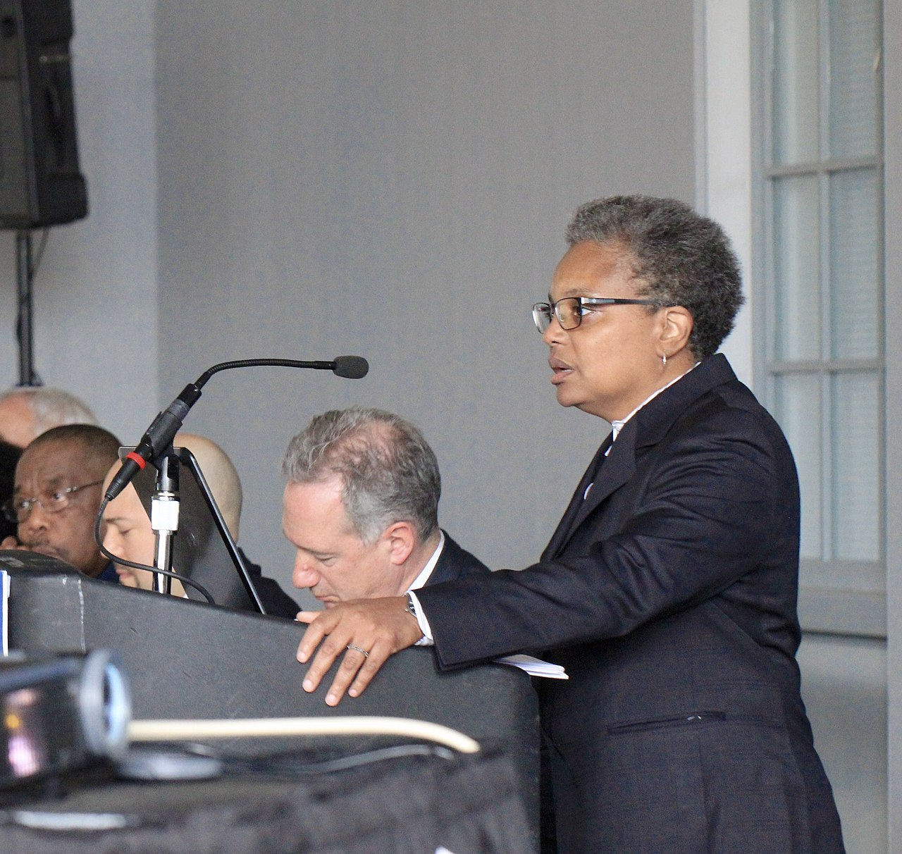 ( Wikipedia ) Lightfoot speaking at the release of the  Chicago Police Accountability Task Force 's report in 2016