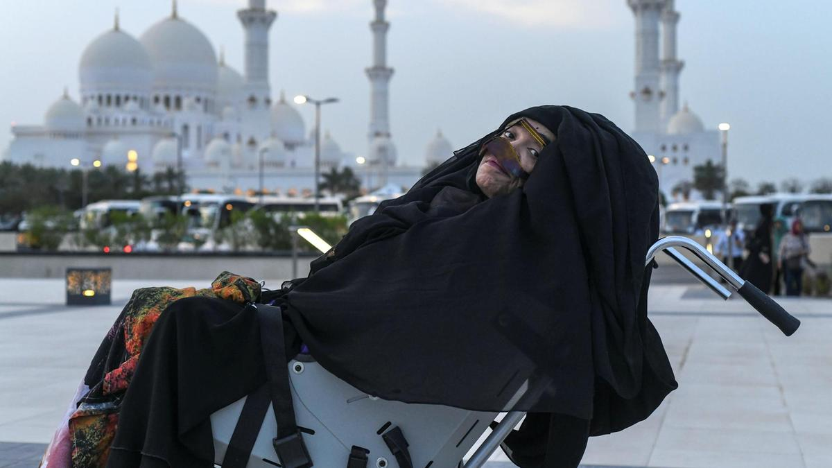 Munira Abdulla, awakened from a 27-year-long vegetative state, at Sheikh Zayed Grand Mosque. Khushnum Bhandari for  The National