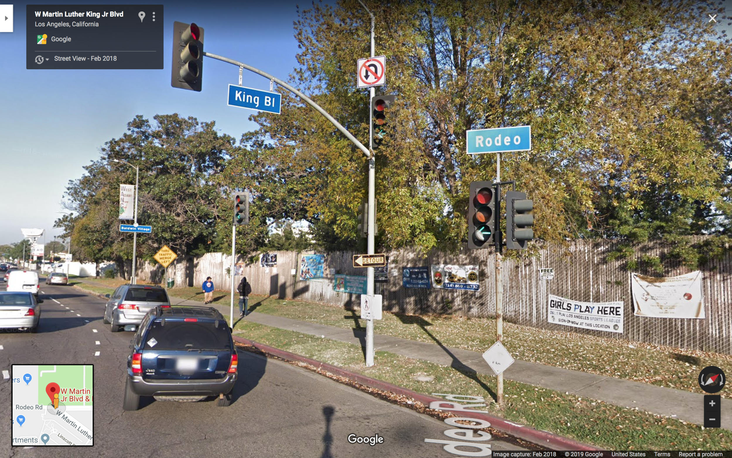 ( Google Street View ) Martin Luther King Jr. Blvd. and Rodeo Rd.