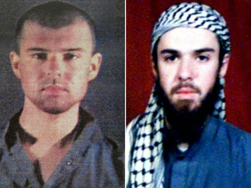 "Pics of ""American Taliban"" aka John Walker Lindh, in 2001 and 2002"